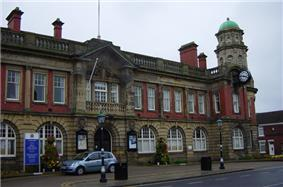 Wallsend Town Hall, the seat of North Tyneside Council