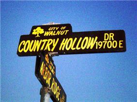 Street sign in Walnut