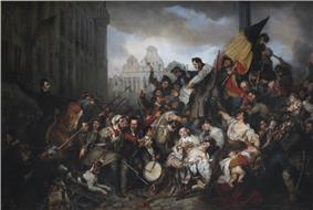 Episode of the Belgian Revolution of 1830, by Gustaf Wappers (1834)