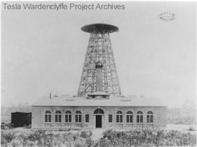 Nikola Tesla's Wardenclyffe Tower during construction in 1902