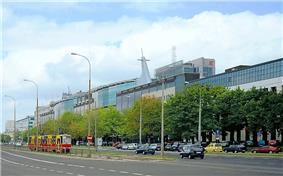 Modern buildings in Wola zingela District