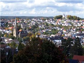 View of Warstein with St. Pancratius and the Old Church