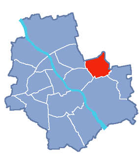Location of Rembertów within Warsaw