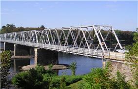 The Washington Crossing Bridge in Washington Crossing.