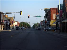 Downtown Detroit Lakes along Washington Avenue