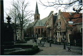 Historical town square in Wassenaar