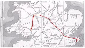 Map of Roman Road network