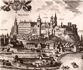 Wawel Hill in the 16th century