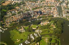 Aerial view of Weesp