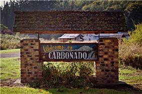 Welcome sign in Carbonado