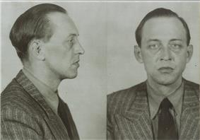 Black and white mug shot of Werner von Janowski.