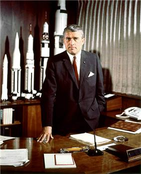 German American aerospace engineer and space architect Wernher von Braun