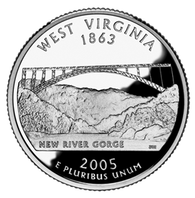 Quarter of West Virginia