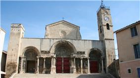 West portal of the abbey church
