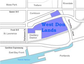 West Don Lands area