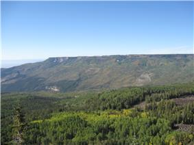 The northwestern edge of Grand Mesa from  the south.
