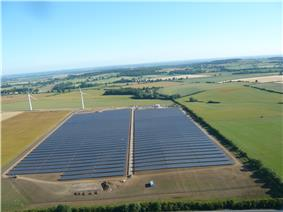 Westmill solar park in the United Kingdom