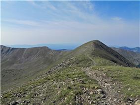 A photo of Wheeler Peak from Mount Walter.