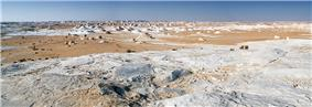 Panorama of the White Desert in Egypt