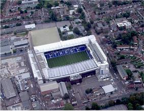 Aerial photograph of Tottenham Hotspur's stadium, White Hart Lane