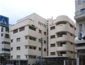 White modern building.