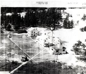 1947 aerial view of Whitefish Point Light Station