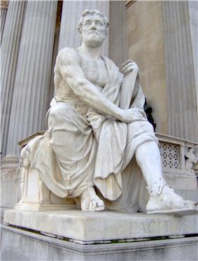 A white statue of a man