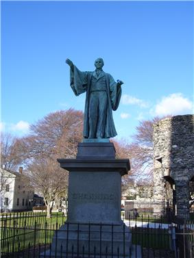 William Ellery Channing statue in Touro Park.jpg