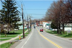 Williamson looking north on South Avenue (NY21)