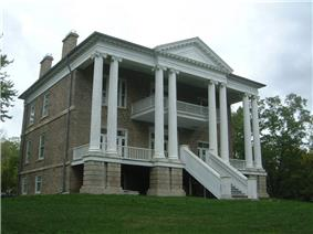 Exterior view of Willowbank mansion