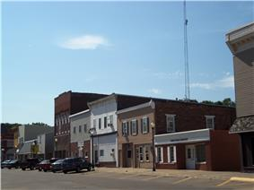Buildings on the north side of West Fourth Street