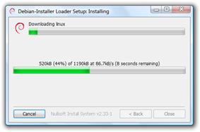 Screenshot of win32-loader