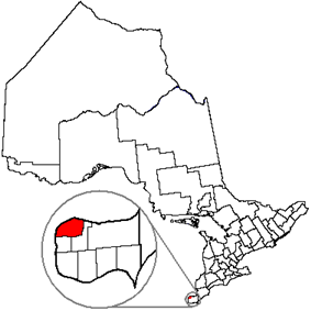 Location of Windsor next to Essex County, in the province of Ontario