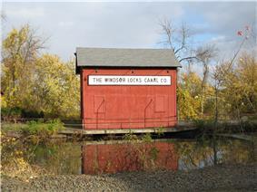 The Windsor Locks Canal Company alongside the Enfield Falls Canal
