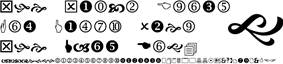 Wingdings 2 sample text