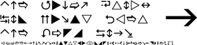 Wingdings 3 sample text