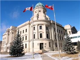 The Winnipeg Law Courts in winter
