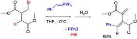 Wittig reagent in allylic rearrangement. 8% ene product not depicted