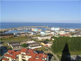 Harbour on Baltic Sea