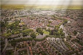 Aerial view of Woerden in 2013