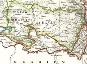 Location of Serbia and Temeschwar