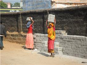 Women at work in India.
