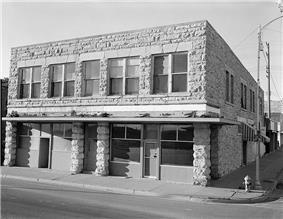 Woodruff Block, built 1892.  1985 photo, Historic American Buildings Survey.