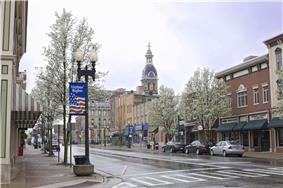 Downtown Wooster's East Liberty Street in April 2011