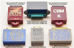 Earliest software protection dongles used for the Wordcraft word processor.
