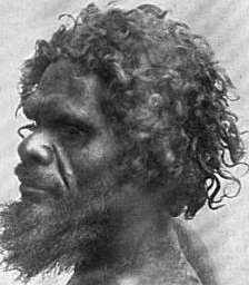 Workii Australoid man from Gilbert River, South Australia.