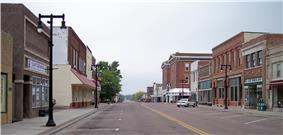 Tenth Street in downtown Worthington in 2007