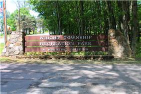 Sign at the Wright Township Municipal Park