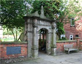 Gateway of Wright's Almshouses, Beam Street