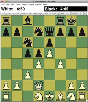 GNU Chess 6.0.0 on XBoard 4.5.1